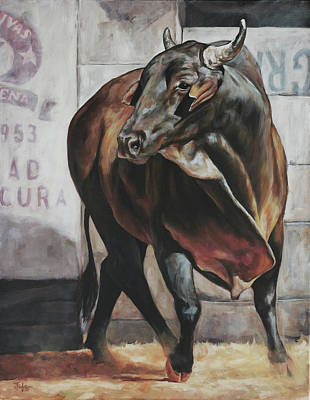 Painting - Costa Rican Bull by Joan Frimberger