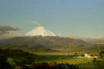 American Painters Painting - Cotopaxi by Frederic Edwin Church