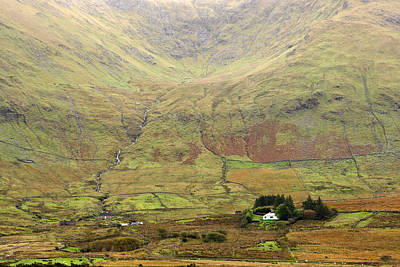 Cottage At The Foothill Of The Colorful Connemara Mountains Ireland  Art Print by Pierre Leclerc Photography