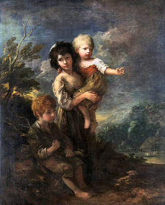 Photograph - Cottage Children by Thomas Gainsborough