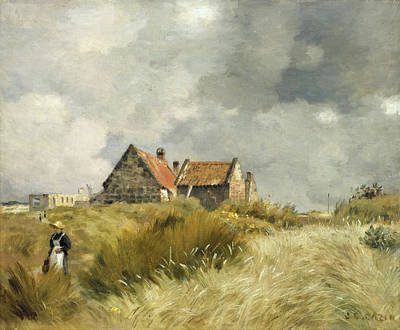 Jean Charles Cazin Painting - Cottage In The Dunes by Jean-Charles Cazin