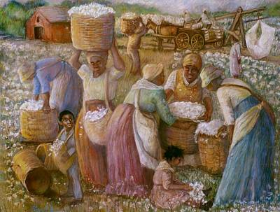 The Cotton Field Painting - Cotton Fields by Pamela Mccabe