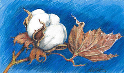 Painting - Cotton Picking Blues by Jacki Kellum
