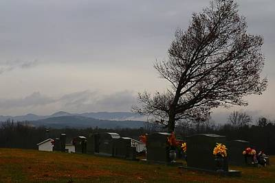 Photograph - Country Cemetery by Kathryn Meyer