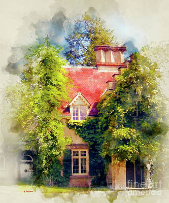 Charming Cottage Digital Art - Country Cottage by George Voyajolu