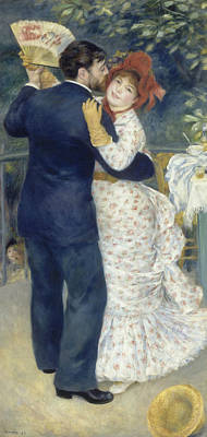 Dance Art Painting - Country Dance by Auguste Renoir