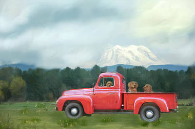Mixed Media - Country Drive by Mary Timman
