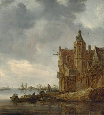 Maritime Painting - Country House Near The Water by Jan van Goyen