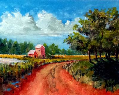 Painting - Country Lane by Jim Phillips