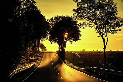 Photograph - Country Road Sunset by Pixabay