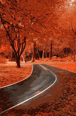 Painting - Country Roads by Andrea Mazzocchetti