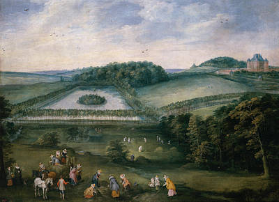 Urban Scenery Painting - Country Tour Of Isabel Clara Eugenia by Jan Brueghel the Elder