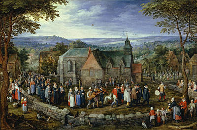 Out Of The Woods Painting - Country Wedding by Jan Brueghel the Elder