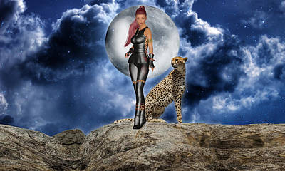 Cheetah Mixed Media - Courageous by Marvin Blaine