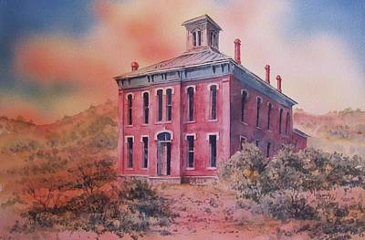 Painting - Courthouse Belmont Ghost Town Nevada by Kevin Heaney