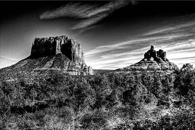 Photograph - Courthouse Butte And Bell Rock Sedona Arizona by Roger Passman