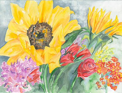 Courtney's Sunflower Art Print by Kimberly Lavelle