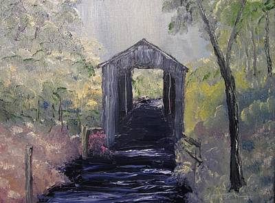 Painting - Covered Bridge 1 by David Bartsch