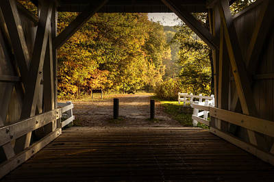 Photograph - Covered Bridge by Ann Bridges