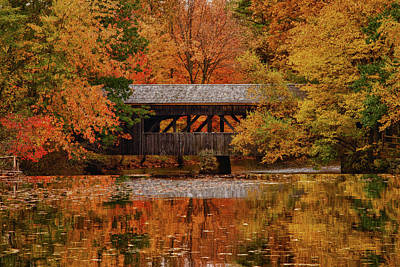 Covered Bridge At Sturbridge Village Art Print