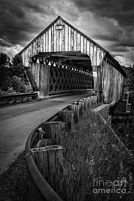 Photograph - Covered Bridge Willard West Twin Hartland Vermont by Edward Fielding