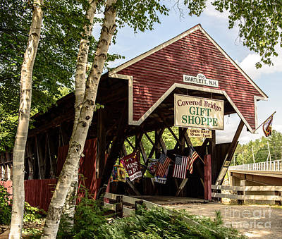 Covered Bridge Gift Shoppe Art Print by Sherman Perry