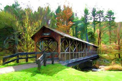Photograph - Covered Bridge by John Freidenberg
