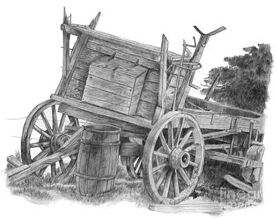 Covered Wagon Art Print