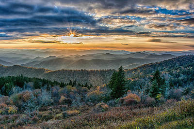 Photograph - Cowee Sunset by Donnie Smith
