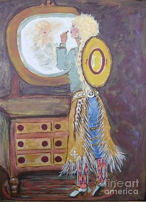 Painting - Cowgirl Powder Room by Susan Gahr