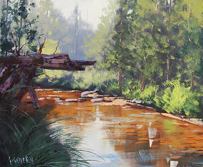 Nature Scene Painting - Coxs River Bank by Graham Gercken