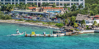 Royalty-Free and Rights-Managed Images - Cozumel Coastline  by Betsy Knapp