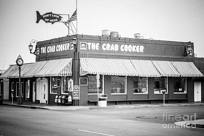 Crab Cooker Newport Beach Black And White Photo Art Print by Paul Velgos