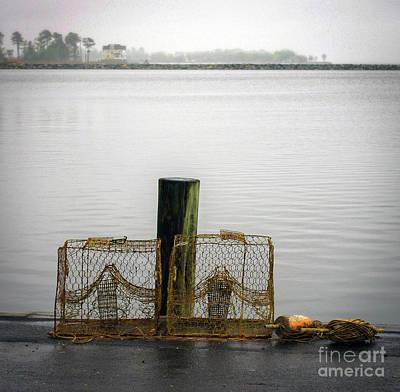 Crab Pots Photograph - Crab Pots by Skip Willits
