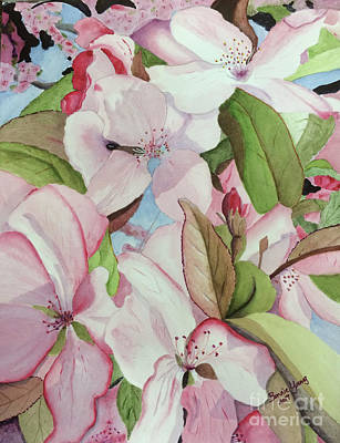 Maine Farm Painting - Crabapple Blossoms by Bonnie Young
