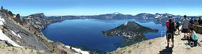 Photograph - Crater Lake In Southern Oregon by Gregory Dyer