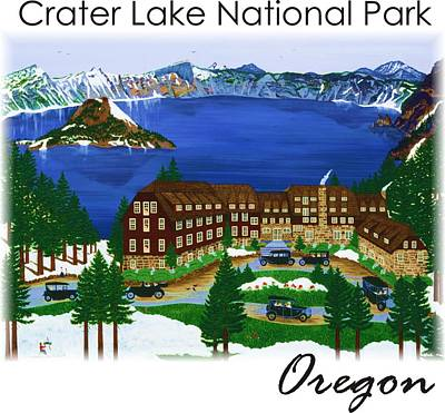 Painting - Crater Lake National Park by Jennifer Lake