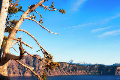Photograph - Crater Lake Early Dawn Scenic Views IIi by Dee Browning