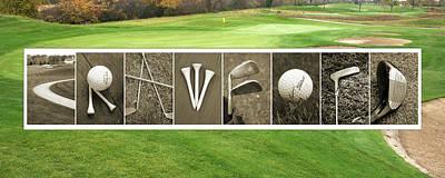 Photograph - Crawford Golf Alphabet Art by Kathy Stanczak