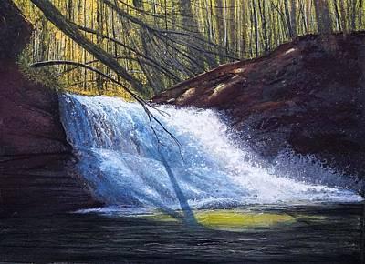 Painting - Creation Falls by Gary Edward Jennings
