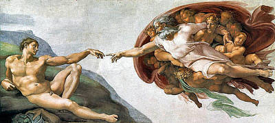 Creation Of Adam Art Print