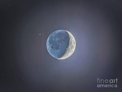 Crescent Moon With Earthshine Art Print