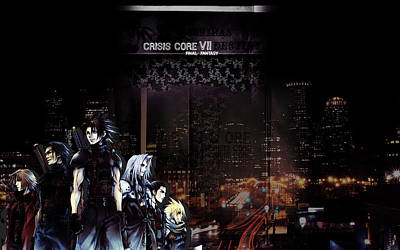 Skyline Digital Art - Crisis Core Final Fantasy Vii by Maye Loeser