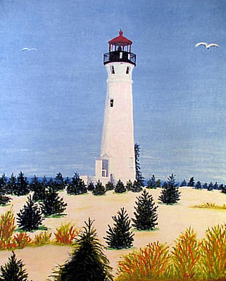Painting - Crisp Point Lighthouse by Frederic Kohli
