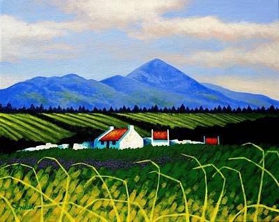 Emotive Painting - Croagh Patrick County Mayo by John  Nolan
