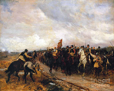Cromwell Painting - Cromwell At Dunbar  by MotionAge Designs