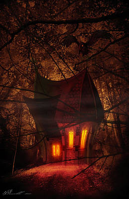 Abandoned Digital Art - Crooked House by Svetlana Sewell