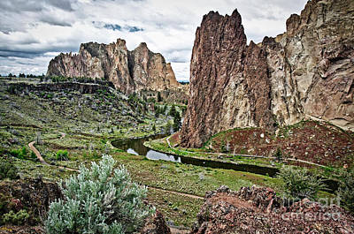 Photograph - Crooked River In Smith Rock State Park by Bruce Block