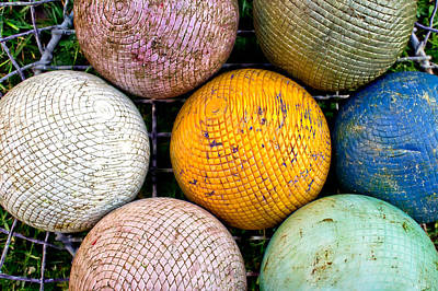 Basket Ball Game Photograph - Croquet Balls by Tom Gowanlock