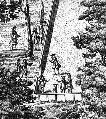 Engraving Drawing - Croquet by English School